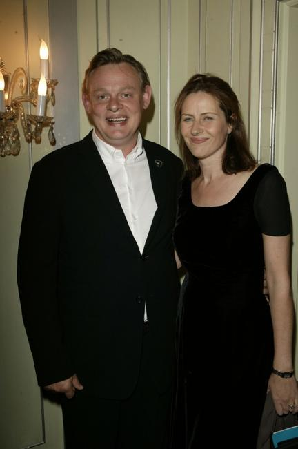 Martin Clunes and guest at the TV Quick awards.
