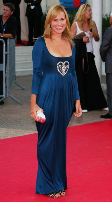Judith Godreche at the awards ceremony during the 32nd Deauville Festival Of American Film.
