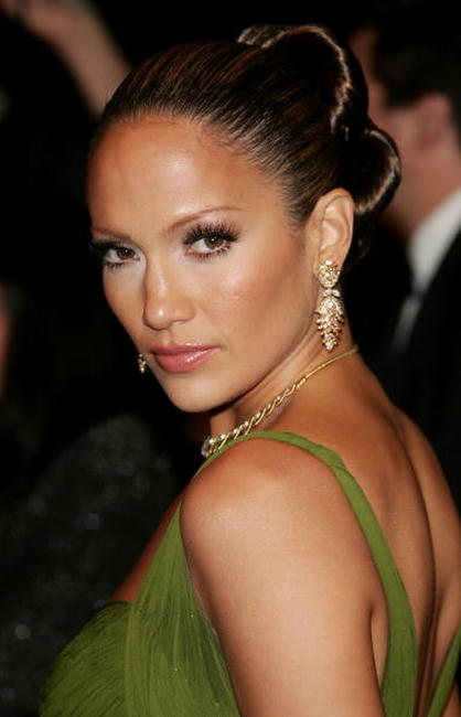 Jennifer Lopez at the Vanity Fair Oscar Party.