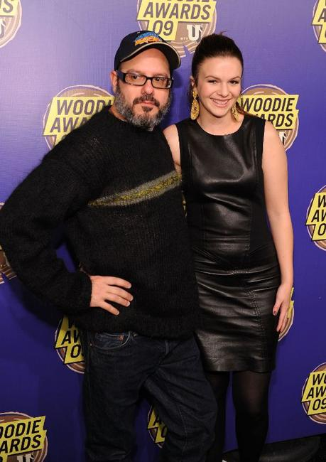 David Cross and Amber Tamblyn at the 2009 MTVU Woodie Awards.