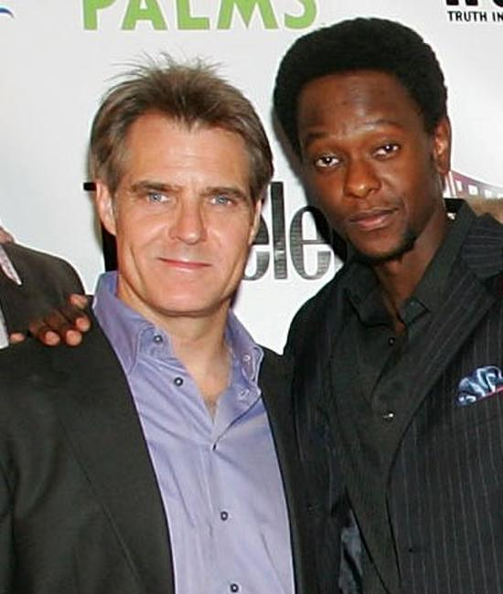 Henry Czerny and Edi Gathegi at the world premiere of