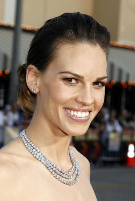 "Hilary Swank at the premiere of ""The Reaping"" in Los Angeles."