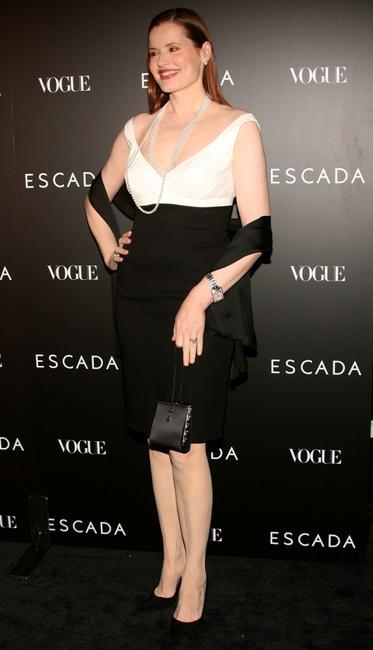 Geena Davis at the ESCADA Grand-Reopening Event.