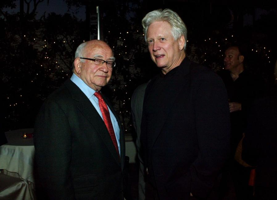 Bruce Davison and Ed Asner at the State of the Union Viewing party.