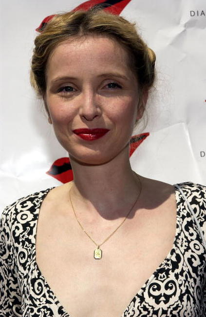 Julie Delpy at a luncheon celebrating the opening of Diane von Furstenberg's Melrose Place boutique.