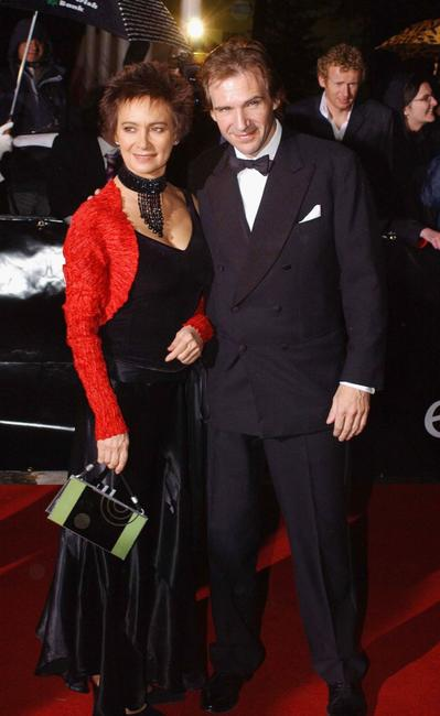 Francesca Annis and Ralph Fiennes at the Irish Film and Television Awards at the Burlington Hotel.