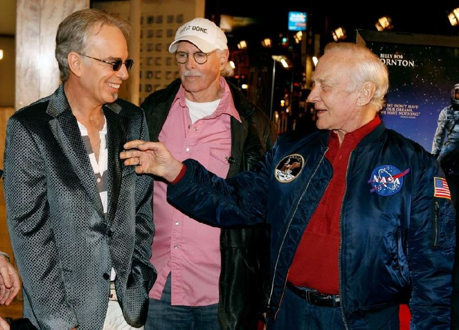 Bruce Dern, Buzz Aldrin and Len Amato at the premiere of Warner Bros Pictures