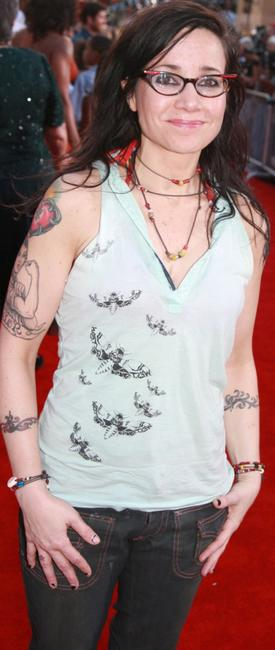 Janeane Garofalo at the premiere of