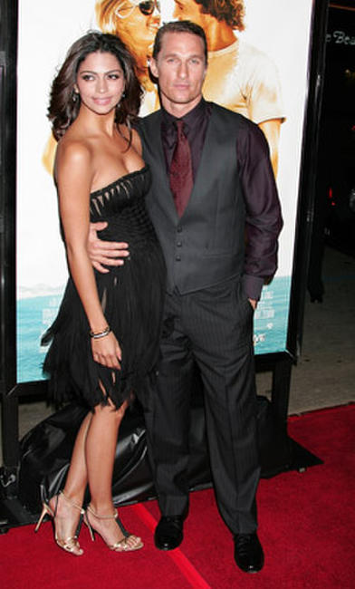 Actor Matthew McConaughey and model Camila Alves at the Hollywood premiere of