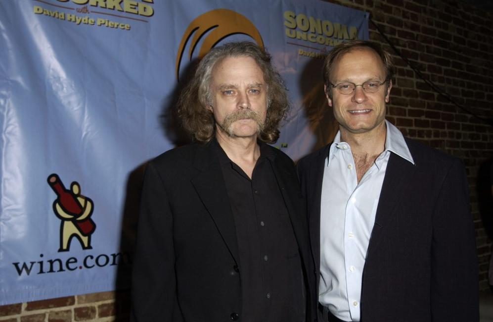 Brad Dourif and David Hyde Pierce at the wine tasting and CD release party of