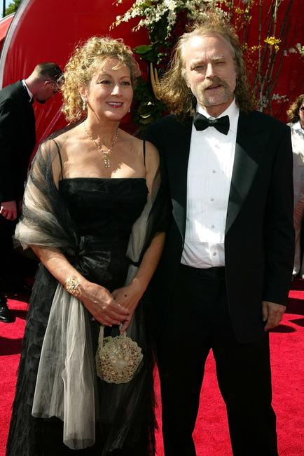 Claudia Handler and Brad Dourif at the 56th Annual Primetime Emmy Awards.