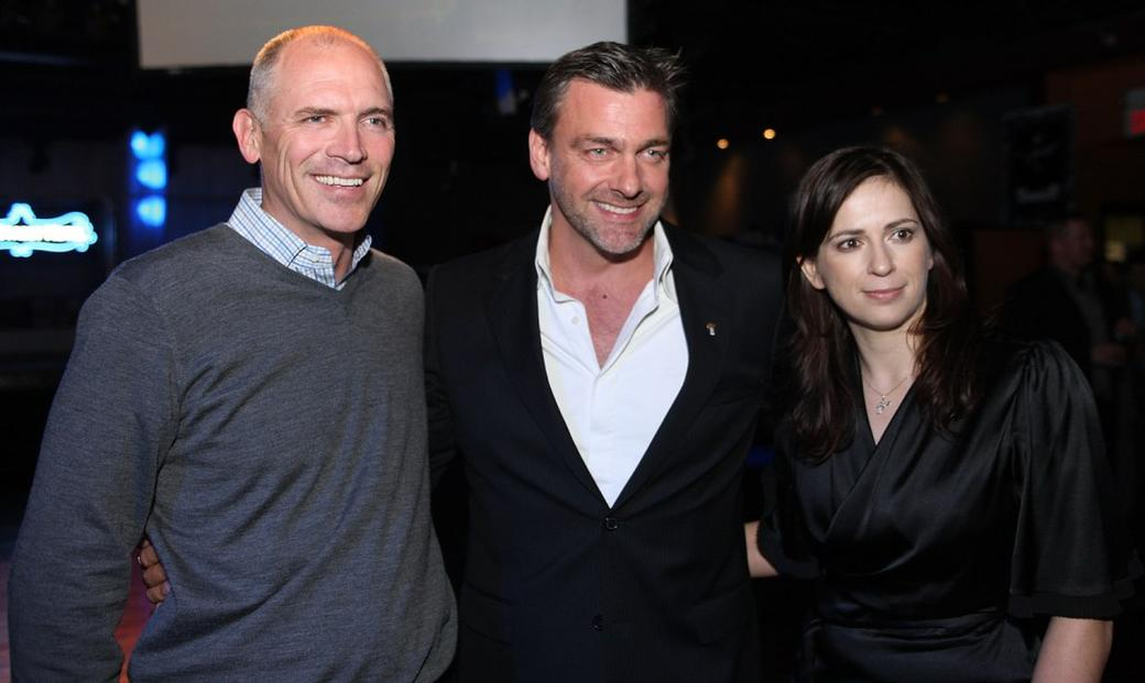 Joe Drake, Ray Stevenson and director Lexi Alexander at the after party of the Special Screening of