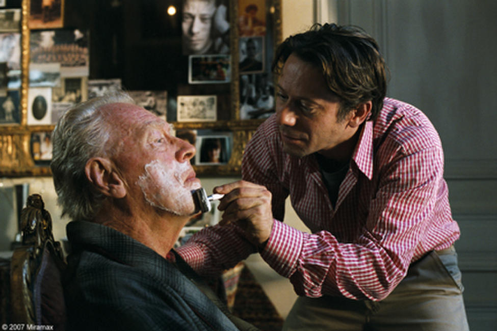 Max von Sydow and Mathieu Amalric in