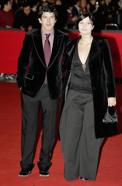 Pierfrancesco Favino and Anna at the premiere of