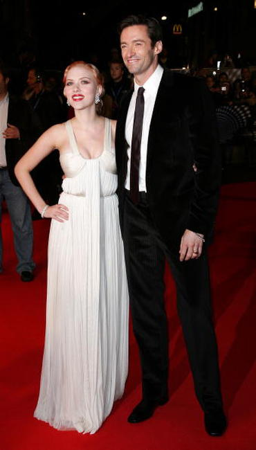 Scarlett Johansson and Hugh Jackman at the London premiere of