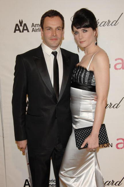 Jonny Lee Miller and Michele Hicks at the 16th Annual Elton John AIDS Foundation Academy Awards.
