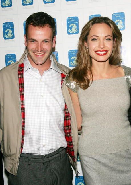 Jonny Lee Miller and Angelina Jolie at the premiere of