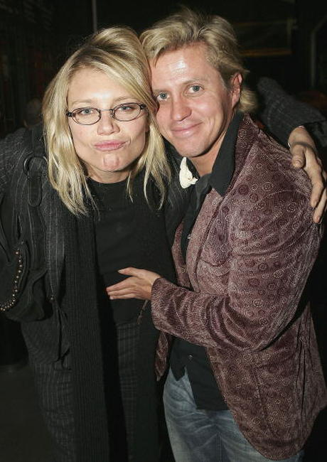 Peta Wilson and Dan Wyllie at the opening night of