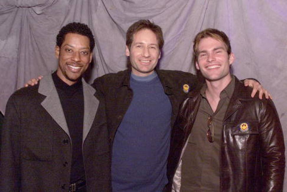 Orlando Jones, David Duchovny and Seann William Scott at ShoWest, Paris Hotel in Las Vegas.