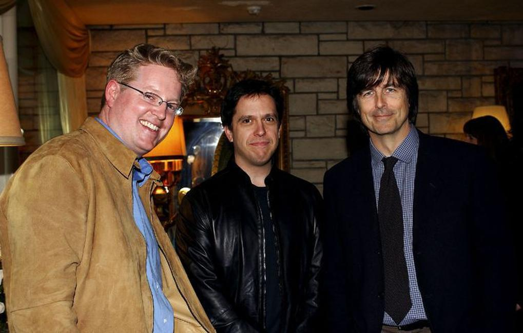 Director Andrew Stanton, Lee Unkrich and Thomas Newman at the champagne reception honoring the Academy Award Music Nominees.