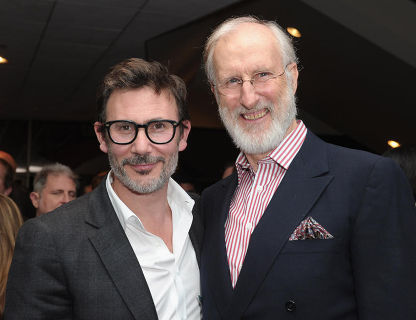 Michel Hazanavicius and James Cromwell at the after party of California premiere of