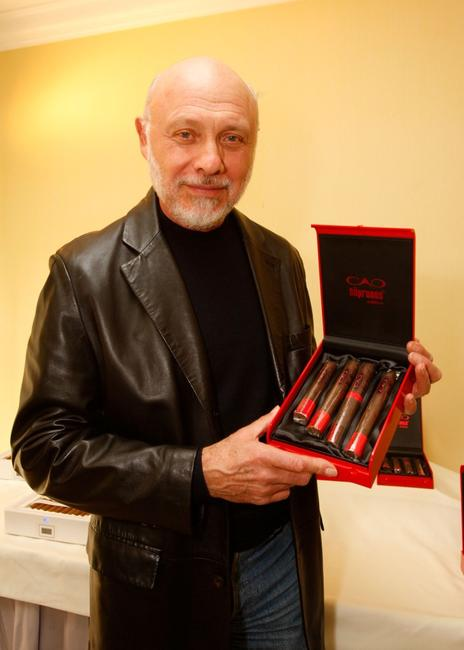 Hector Elizondo at the Luxury Lounge in honor of the 2008 SAG Awards featuring Cao cigars held at the Four Seasons Hotel.