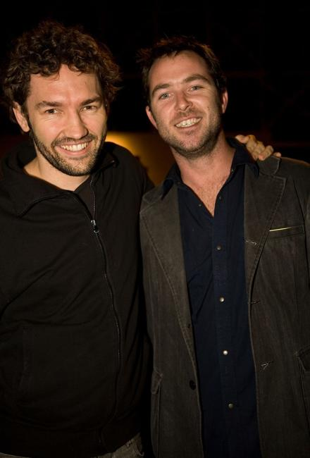 Nash Edgerton and Sullivan Stapleton at the opening night of the St Kilda Film Festival.