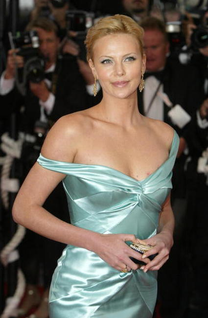 Charlize Theron at the Cannes screening of