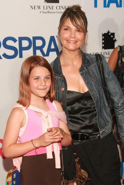 Kathryn Erbe and her daughter at the premiere of