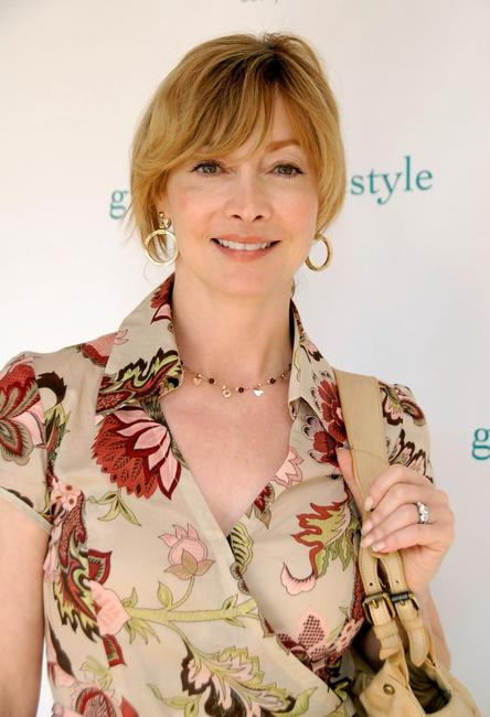 Sharon Lawrence at the Green Living gifting lounge at Cisco Home.
