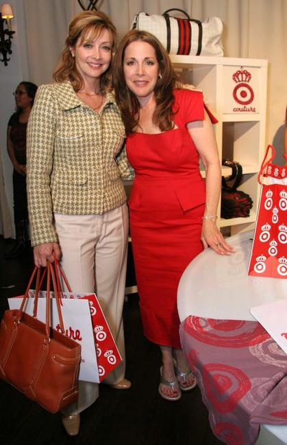 Sharon Lawrence and Jaye Hersh at the Intuition party of the Target Couture.