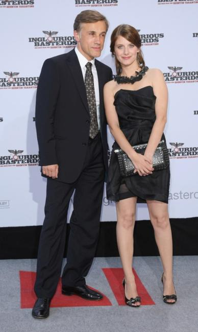 Christoph Waltz and Melanie Laurent at the German premiere of