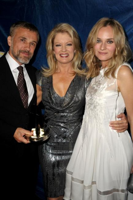 Christoph Waltz, Mary Hart and Diane Kruger at the 13th Annual Hollywood Awards Gala ceremony.