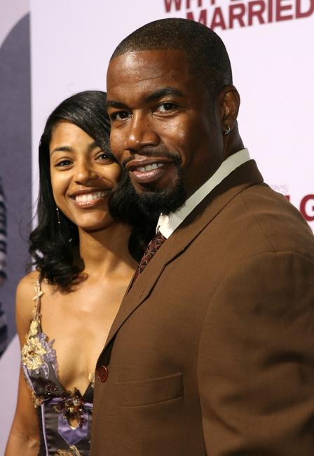 Michael Jai White and his wife Courtney White at the premiere of