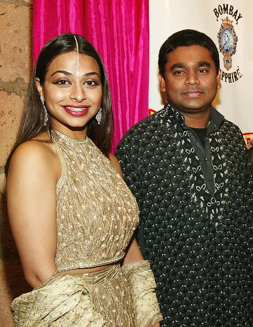 Ayesha Dharker and A.R. Rahman at the after party of the opening night of