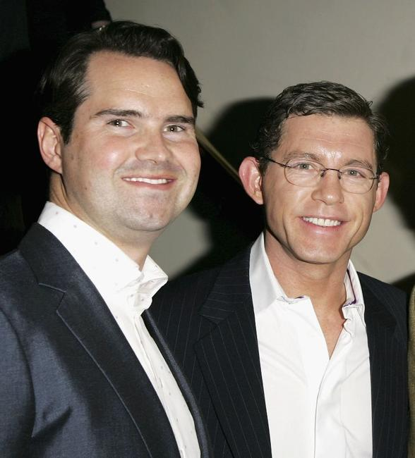 Jimmy Carr and Lee Evans at the South Bank Show Awards.