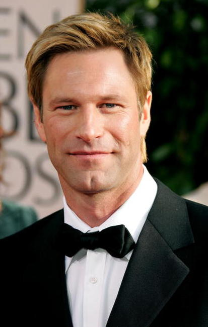 Aaron Eckhart at the 64th Annual Golden Globe Awards.
