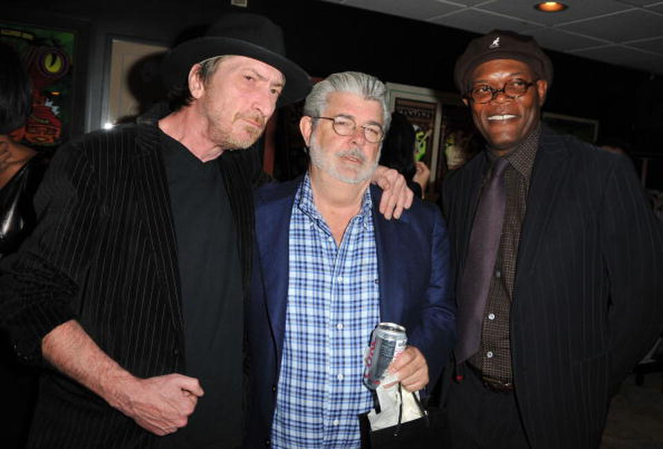 Frank Miller, Director George Lucas and Samuel L. Jackson at the Spike TV's 2008 Scream Awards.