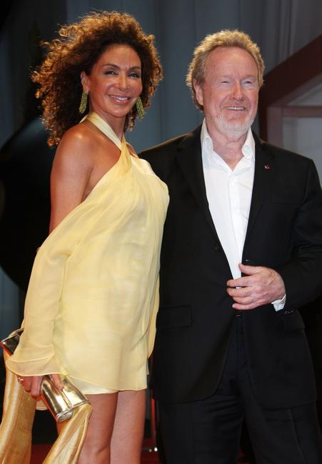 Giannina Facio and Ridley Scott at the premiere of