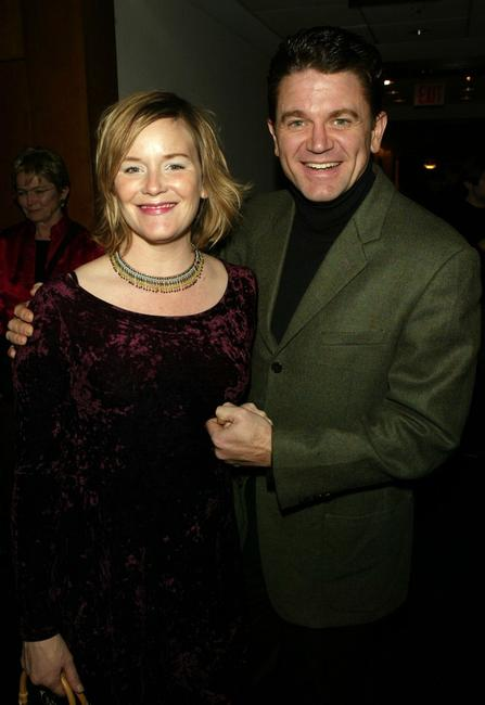 John Michael Higgins and Margaret Welsh at the opening night party for Lincoln Center Theater's