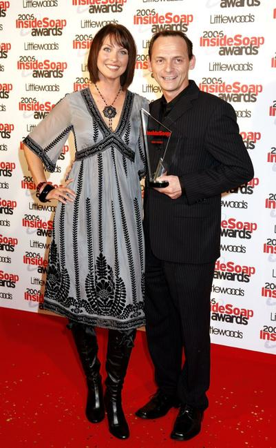 Emma Barton and Perry Fenwick at the Inside Soap Awards 2006.