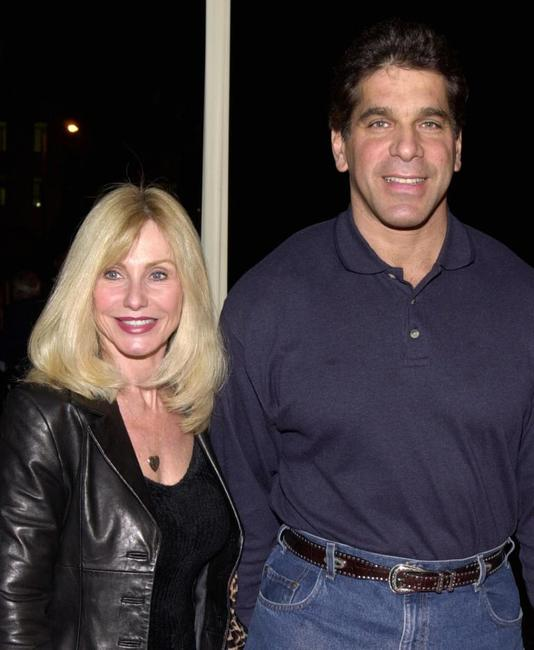 Lou Ferrigno and wife Carla at the 35th Anniversary of Gold's Gym.