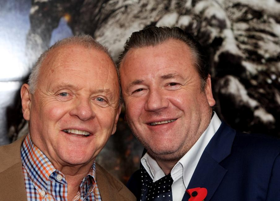 Ray Winstone and Sir Anthony Hopkins at the photocall to promote the film