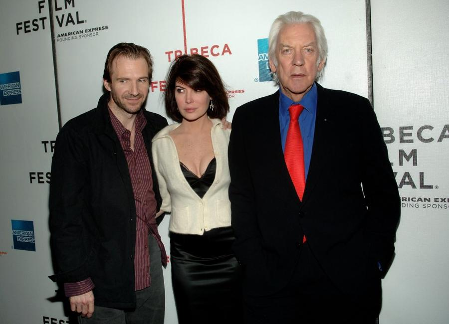 Ralph Fiennes, Lara Flynn Boyle and Donald Sutherland At The 5th Annual Tribeca Film Festival Premiere Of