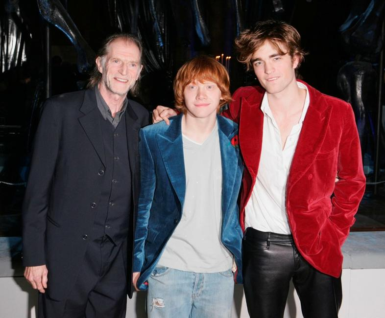 David Bradley, Rupert Grint and Robert Pattinson at the world premiere party of