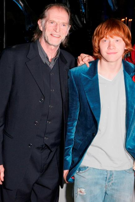 David Bradley and Rupert Grint at the world premiere party of