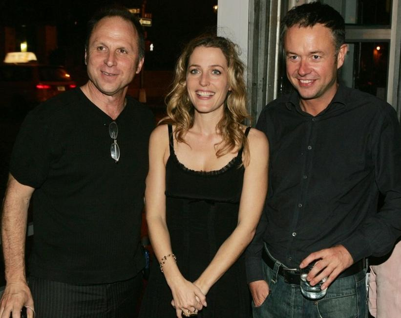 Bob Berney, Gillian Anderson and Michael Winterbottom at the after party of