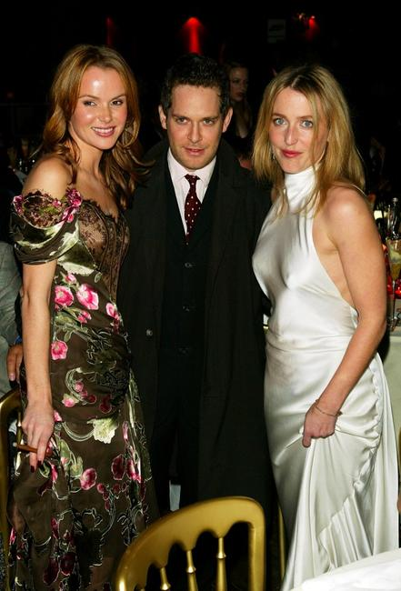 Amanda Holden, Tom Hollander and Gillian Anderson at the British Independent Film Awards.