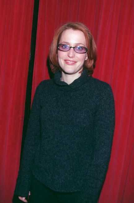 Gillian Anderson at the Cracked Christmas Event.