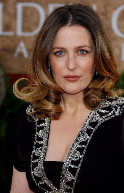 Gillian Anderson at the 64th Annual Golden Globe Awards.